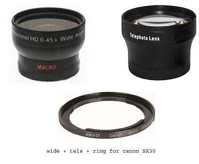 ワイドレンズ+ Teleレンズ+チューブアダプタバンドルfor Canon PowerShot sx30 is、Canon sx40 HS B01DD49VKE