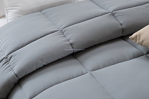 Super Oversized - Down Alternative Comforter - Fits Pillow Top Beds - Queen 92'' x 96'' - Gray - Exclusively by BlowOut Bedding RN #142035 by Web Linens Inc (Image #9)