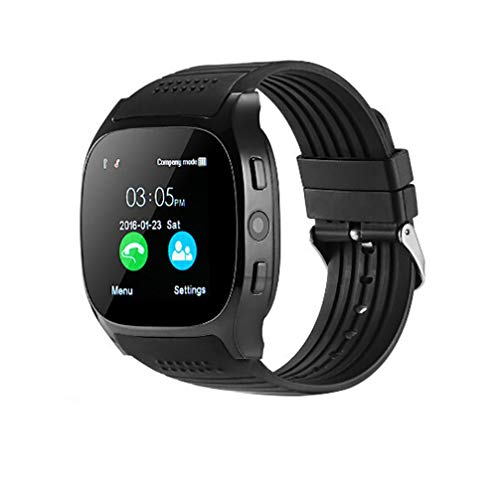 Price comparison product image Buybuybuy Smart watch for android phones, 2018 Bluetooth smartwatch android phone watch,  waterproof smart watches touchscreen with camera compatible IOS iphone Android Samsung for women man (Black)