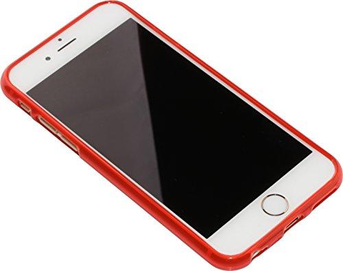 "nandu™ iPhone 6 / 6S Hülle ""Classic"" - dünne Silikonhülle TPU rot mit mattem Finish"