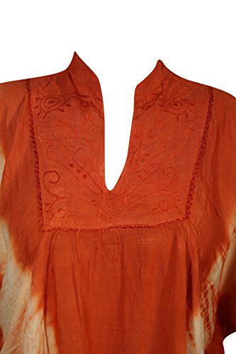Tunika Blau Orange Kleid Interior Mogul himmelblau Damen qAz7EzWwSR