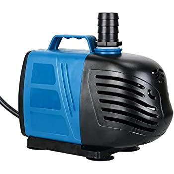 Uniclife 1000 GPH Submersible/Inline Water Pump with 10' Cord for Pond Pool Fountain Aquarium Fish Tank