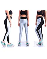 Women High Waist Stretch Skinny Shiny Spandex Leggings Pants Slim Fit Tights