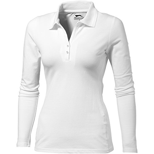Polo Volley Mujer Manga Larga De Blanco Slazenger BqcdRB