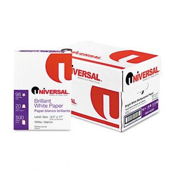 Universal® Bright White Multipurpose Copy Paper PAPER,XERO/DUP,LTR,98B,WE 18026 (Pack of2)