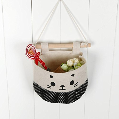 Boomboom Storage Bag, New Cotton Cartoon Cat Hanging Storage Wall Door Storage Decoration (A) by Boomboom (Image #2)