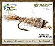 Nymph-Head Hares Ear Natural - Nymph (2-Pack)