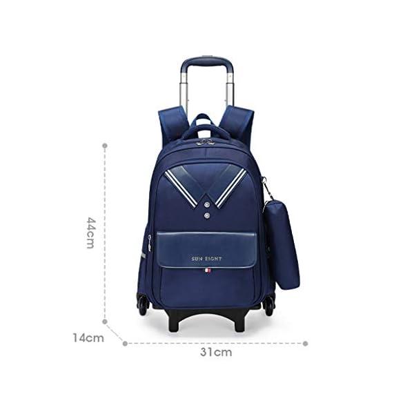 Zaino trolley per studenti, alla moda, con ruote, zaino a rullo per studenti/bambini/bambini, staccabile, scalata… 2 spesavip