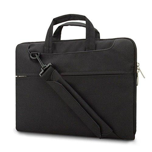 Maletín Portátil Vanwalk Bolsa de Mensajero Nylon Oxford Impermeable para 10-13.3 inches Laptop / Tablet / Notebook / Macbook Pro/Air, Negro Negro, 13.3inch