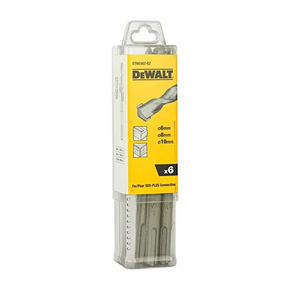 DEWALT DT60302 SDS-Plus Hammer Drill Bit-Set (Pack of 6) 1