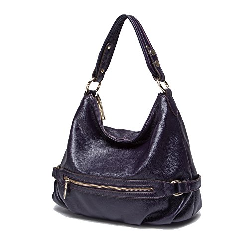 Bags and Womens Mayshe Purses Tote Handbag Satchel Crossbody Leather Genuine Shoulder Hobo Style Casual Purple 8wgqwS