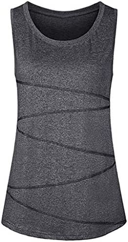 Women Sleeveless Tunic Vest Tank Yoga Tops Activewear Running Workout Shirt