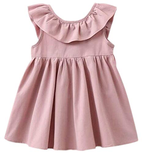 e2af777d539 Niyage Toddler Baby Girls Cotton Tunic Dress Swing Casual Sundress Age 1-5