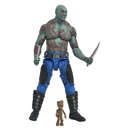 Marvel - Figurine - Select Gardiens de la Galaxie 2 Drax et Baby Groot, JAN172662, 17 cm
