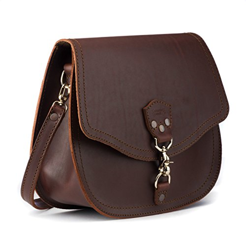 Saddleback Leather Hobo Crossbody Purse - Casual, Comfortable Handbag for Women - 100 Year Warranty by Saddleback Leather Co.