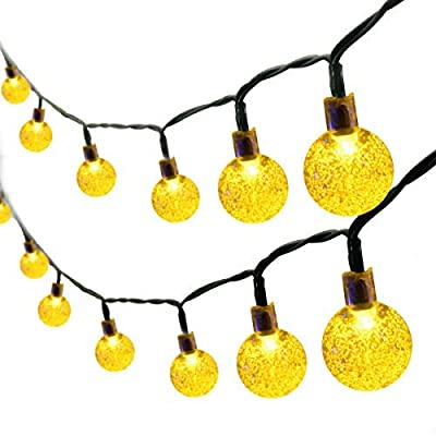 Binval Solar String Lights 30 Led Crystal Ball String Lights Waterproof Fairy Lighting for Home,Outdoor,Patio,Landscape,Holiday Decorations(Warm White)
