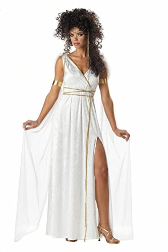 [POPLife Athenian Goddess Greek Roman Empress Adult Costume] (Greek Stage Costumes)