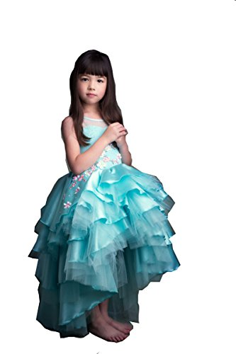 Kelaixiang Blue High-Low Princess Ball Party Dress For Girls (3) by Kelaixiang