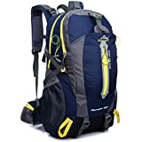 Hiking Backpack Nylon Waterproof Large Capacity Daypack for Outdoor Sports Travel Fishing Cycling Skiing Climbing Camping Mountaineering (Dark Blue-40L)
