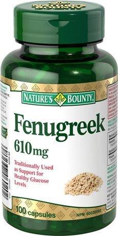 Nature's Bounty Fenugreek 610mg, 100 Capsules
