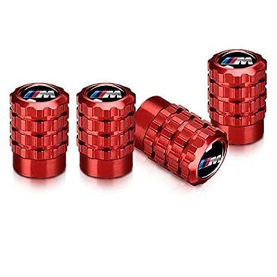 Baoxijie 4 Pcs Metal Car Wheel Tire Valve Stem Caps for BMW X1 X3 M3 M5 X1 X5 X6 Z4 3 5 7Series Logo Styling Decoration Accessories(red): Automotive