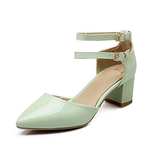 Adee Mujer pointed-toe ankle-cuff Poliuretano Sandalias Verde - verde