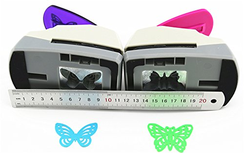 TECH-P Creative Life Crafts Engraving Hole Punch 2-Inch -DIY Paper Punch for Card Scrapbooking Craft Punch Embossing Border School Supplies. (Butterfly-2) Photo #2