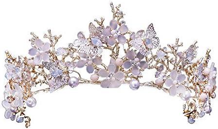 クラウン頭飾りの花嫁ヨーロッパのレトロな頭飾りの結婚式の王女の結婚式のパーティーのアクセサリー