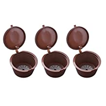 XCSOURCE 3pcs Reusable Coffee Capsules, Eco-Friendly Coffee Filters, Refillable Pods for Nescafe Dolce Gusto Brewers Machines HS890