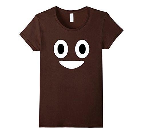 Women's Halloween Poop Emoji Costume T Shirt Medium Brown (Creative Halloween Costumes Ideas)