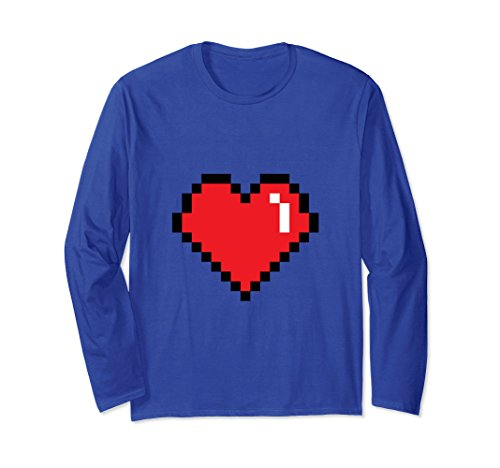 Unisex 540P Video Game Heart For Nerd And Gamers 2XL Royal (Nerd Outfit For Guys)