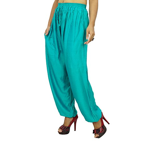 Harem Yoga Aladdin pantalones casuales Hippie Pantalones Harem de las mujeres indias sarcelle