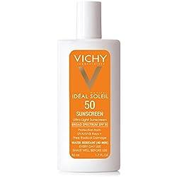 Vichy Idéal Capital Soleil SPF 50 Ultra-Light Face Sunscreen with Antioxidants and Vitamin E, 1.7 Fl. Oz.