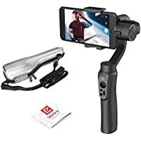Zhiyun Smooth-Q 3-Axis Handheld Gimbal Stabilizer for Smartphone iPhone 8/ X / 7/Plus 6/Plus, Samsung Galaxy S8 S7 S6 S5(Dimension:3.5-6 inch), Wireless Control Vertical Shooting Panorama Mode