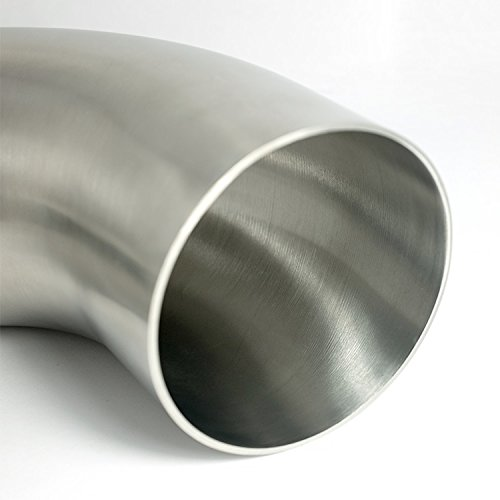 Stainless 2'' 90° Mandrel Bend Elbow - 1D Radius - 16GA/.065'' Wall - No Leg - SS304 - Stainless Bros by Stainless Bros