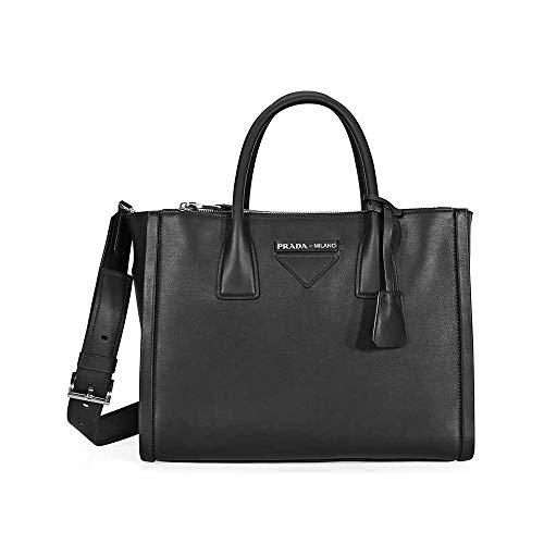 - Prada Concept Medium Leather Crossbody - Black