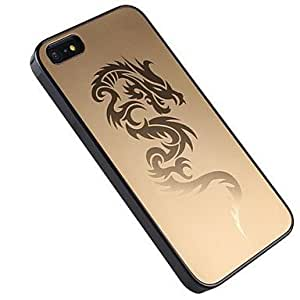 CeeMart Metal Case with Embossed Dragon for iPhone5/iPhone5S Gold by ruishername