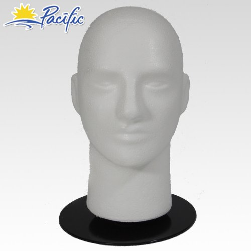 Male Base - Male MANNEQUIN head with holder base display wig hat glasses