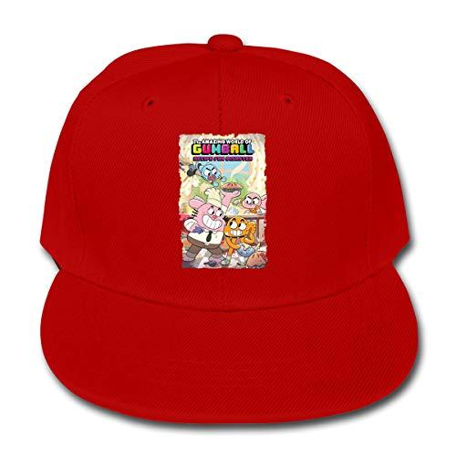 Nanazang The Amazing World of Gumball Adjustable Fashion Boys Girls Baseball Caps Comfortable Summer Red -