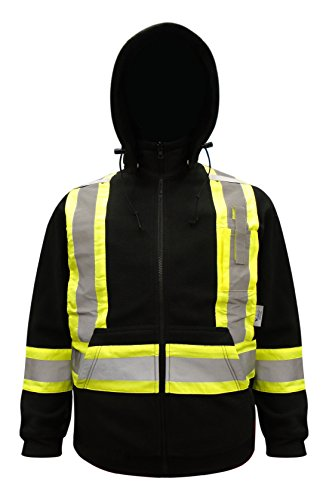 Viking Men's Open Road 150d Trilobal Ripstop Safety Bib Pant Orange,  Hi-Vis Orange,  5XL ()