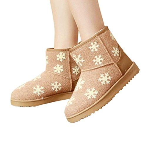 778beb784532 ... Transer® Damen Schnee Stiefel   Stiefeletten Herbst Winter Warm Schuh  Stoff+Plastik ...