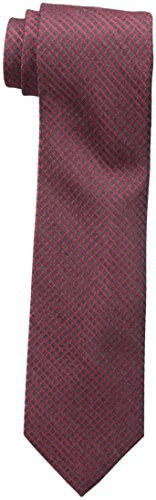 Calvin Klein Men's Red Hot Grid Tie, Charcoal, One Size