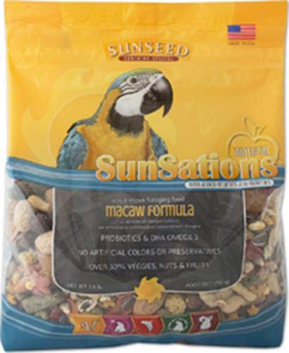 SUNSEED COMPANY 079752 Sunsations Foraging Food for Macaw, 3.5 Pound by SUNSEED COMPANY