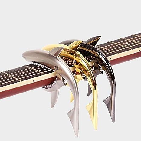 Color : Gold SUNXK Chitarra elettrica a Forma di squalo Capo in Lega di Zinco Morsetto a Cambio rapido for Accessori for Strumenti Musicali acustici Guitarra Classica