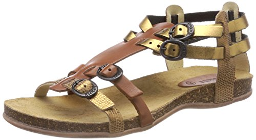 Kickers Women's Ana Ankle Strap Sandals Gold (Bronze) P7iCF1