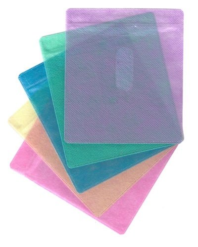 mediaxpo 100 CD Double-Sided Plastic Sleeve Assorted Color