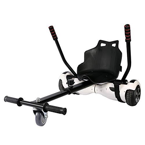 Sfeomi Hoverkart Silla para Hoverboard Electrico Hover Kart Ajustable para Patinete Eléctrico Asiento Kart Adaptarse a 6…