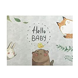 Baby Book First Year & Baby Journal with Dust Bag – Modern Baby Shower Gift & Keepsake for New Parents to Record Photos & Milestones – Five Year Scrapbook & Photo Album Gender-Neutral by Uli Agi
