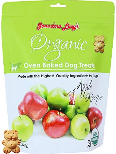 Grandma Lucy's Organic Oven Baked Dog Treats - Apple, 14 oz