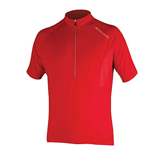 Endura Xtract Short Sleeve Cycling Jersey Red, Small